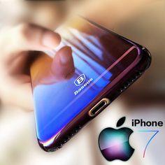 Baseus Originality For iPhone 7 Case luxury Aurora Gradient Color Transparent Case For iPhone 6s 7 Plus light Cover Hard PC Case