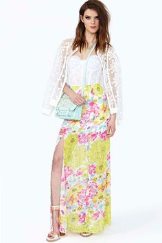 Glowing Spring Maxi Skirt