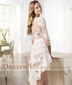 Engagement party? Too much?!  Custommade VNeck Long Sleeves Sexy Short High Quality by DressYOYO