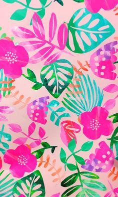 Best Ideas For Wallpaper Phone Backgrounds Pattern Pink Summer Wallpaper, Trendy Wallpaper, Flower Wallpaper, Screen Wallpaper, Cute Wallpapers, Tropical Wallpaper, Cute Backgrounds, Phone Backgrounds, Wallpaper Backgrounds