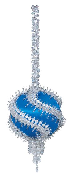 I love handmade beaded, sequined Christmas ornaments. The Crackerbox has some gorgeous kits to make.