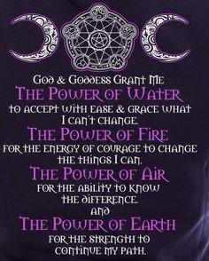 God and goddess grant me