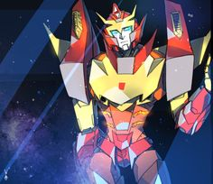 Rodimus Prime on the Lost Light. (Never seen him in action, but this looks great)