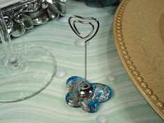 Murano design butterfly place card holder