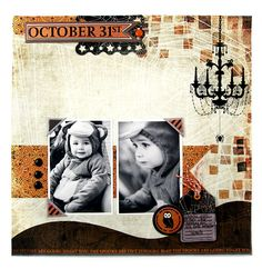 October 31st featuring the Black Widow Collection from We R Memory Keepers - Scrapbook.com
