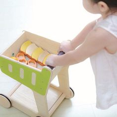 Whether they love to play shop or want to help out for real, this sturdy and sustainable shopping trolley from Plan Toys will always hit the mark. Green Companies, Play Shop, Plan Toys, Rubber Tree, Eco Friendly Toys, Wood Tree, Imaginative Play, Worlds Of Fun, Educational Toys
