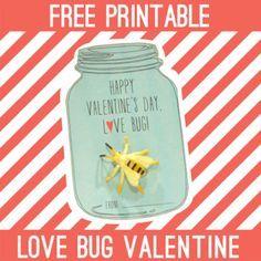 FREE Printable Love Bug Valentine {PartyLand Utah Blog}