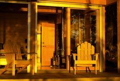Modern cabin designed by Osburn Clarke in the Gulf Islands of British Columbia.