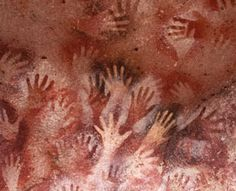 Stone Age Cave Paintings in Patagonia (at the southern end of South America, shared by Argentina and Chile)