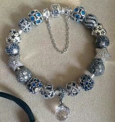 Pandora Bracelet featuring Winter Collection charms