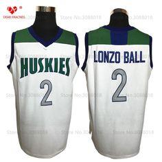 7a4ee5ff3 Top Chino Hills Huskies High School  2 Lonzo Ball Jersey Throwback  Basketball Jersey Vintage Retro