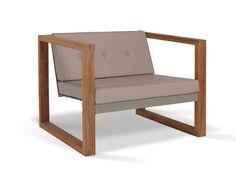 Batyline® garden armchair POLTRONA LOUNGE TEAK by FueraDentro design Hendrik Steenbakkers