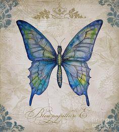 Bleu Papillon-e Painting