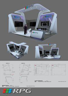 Diseño y ejecución de Stand para la firma RPG en la feria SICUR 010 en IFEMA Madrid,