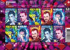 Wereldberoemde Nederlandse dj's kleuren nieuwe postzegels