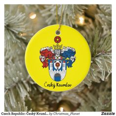 CZECH REPUBLIC INTERNATIONAL FLAG GLASS CHRISTMAS TREE ORNAMENT CZECHOSLOVAKIA