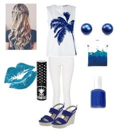 """""""All Blue"""" by mbekah ❤ liked on Polyvore featuring Quiz, STELLA McCARTNEY, Manic Panic, Essie and Sue Devitt"""