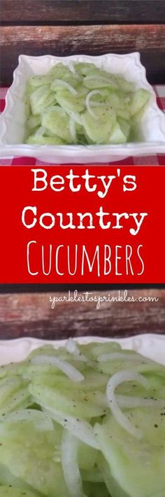 Betty's Country Cumbers ~ An incredible family vinegar cucumber salad recipe. Pin for Later! #cucumber #salad #bbq