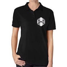 Womens Destiny Titan Platinum Logo Polo Shirt Black ** Click image for more details.