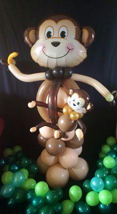 Monkey with child balloon decoration