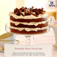Black Forest Cake - Celebration Recipe from I Love Baking SA Easy Cake Recipes, Cupcake Recipes, Baking Recipes, Cupcake Cakes, Dessert Recipes, Baking Tips, Baking Ideas, Cupcakes, Stork Recipes