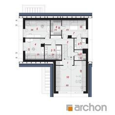 Projekt domu Dom w jaskierkach (G2) - ARCHON+ Modern Bungalow Exterior, Modern Family House, Home Fashion, Larry, Planer, Snake, House Plans, Spirituality, Floor Plans
