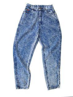 80 s pantalon LEE acide lavage Jeans taille par dirtybirdiesvintage