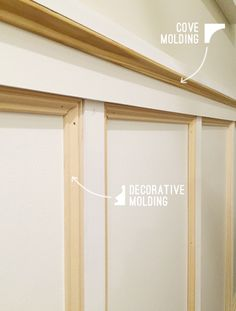 How we added fancy molding to our boring hallway (makes such a difference!)