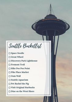 bucket list things to do The ultimate Seattle Bucket List. Dont miss these iconic things to do in Seattle, plus how to get the best views in the city. Seattle Travel Guide, Seattle Vacation, Seattle Ferry, Seattle Food, Downtown Seattle, Usa Roadtrip, Travel List, Solo Travel, Travel Checklist