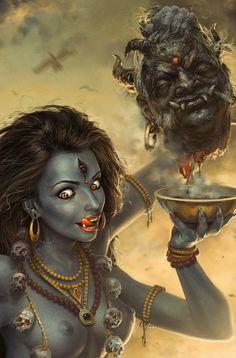 goddess Kali by George Redreev, via Behance