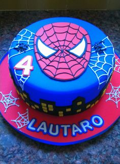 Torta hombre araña Spiderman Birthday Cake, Superhero Cake, Lion Cakes, Sugar Cake, Birthday Cake Decorating, Cakes For Boys, Love Cake, Cute Cakes, Fondant Cakes