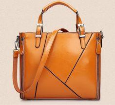89a7d033fac Khaki Brown Genuine Leather Handbags Geometric Design   Rudelyn s Sari Sari  Store Michael Kors Crossbody Bag