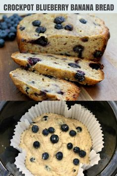 When the need for banana bread hits, throw in some blueberries as well and bake it in your crockpot for ease! Slow Cooker Cake, Healthy Slow Cooker, Slow Cooker Recipes, Blueberry Banana Bread, Recipe Cover, Main Meals, Baking Recipes, Crockpot, Challah
