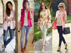 colorful spring blazers, Casual blazers styling ideas http://www.justtrendygirls.com/casual-blazers-styling-ideas/