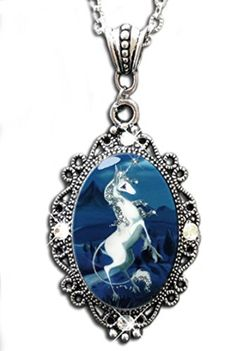 Alkemie Unicorn Sparkles Cameo Pendant Necklace by Alkemie & Artistry -- Awesome products selected by Anna Churchill