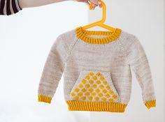 Ravelry: SuvisDesigns' Polka Dot Pocket Pullover