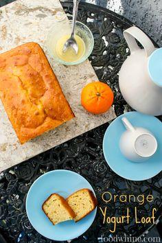 Healthy Orange Yogurt Loaf. Low in sugar!