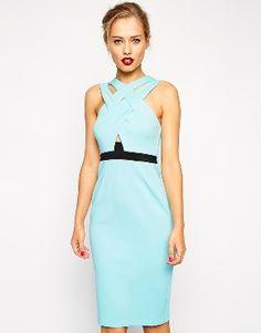 Голубое платье-футляр ASOS