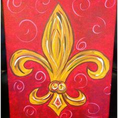 Fleur de lis painting purchased @ the ArtWalk in Memphis, TN