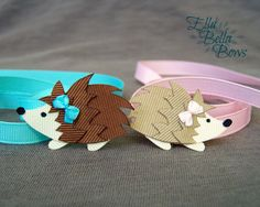 Woodland HEDGEHOG Ribbon Sculpture Hair Clip, Woodland Creatures Collection, Forest Animal Hair Bow