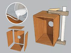 How to Build a Cajon. A cajon is a six-sided Peruvian drum that's a popular DIY instrument project. Cute Crafts, Diy And Crafts, Cajon Drum, Drum Instrument, Guitar Building, Crafty Craft, Musical Instruments, Diy Art, Christmas Fun
