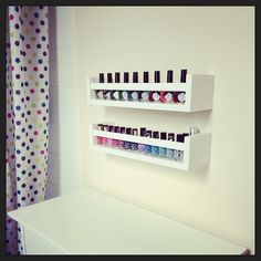 My first post, a brilliant IKEA hack for my nail polish collection.