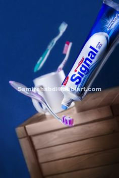 Flying toothpaste