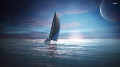 Sailing in the dusk wallpaper #63714