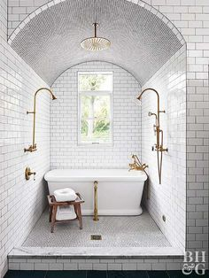 How to Bring a Historic Home into This Century THIS will be your new favorite kitchen.ty … Bathroom Design Ideas A room that mirrors your wisdom. 25 Exciting Bathroom Decor Ideas to Take Yours fro. Dream Bathrooms, Beautiful Bathrooms, Small Bathroom, Master Bathroom, Bathroom Ideas, Wet Room Bathroom, Bathrooms Online, Dark Bathrooms, Master Shower