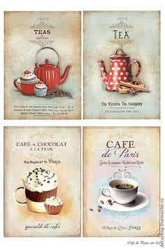 Delicious pictures for decoupage. Vintage Labels, Vintage Cards, Vintage Paper, Printable Vintage, Decoupage Vintage, Vintage Pictures, Vintage Images, Printable Labels, Free Printables