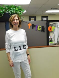 creative halloween costume for the office white lie