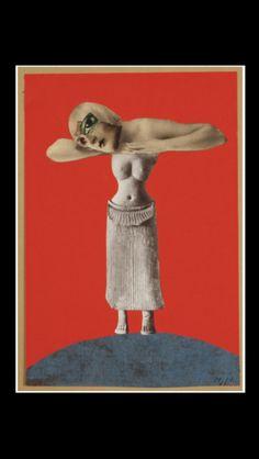 . Hannah Höch - Ohne Titel (Aus einem ethnographischen Museum),  1930 - Collage - 48,3 x 32,1 cm