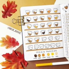 A mood tracker is a great way to show your moods in a fun and creative way. Here are 30 Mood Tracker Ideas to get you inspired for your bullet journal. These mood trackers are gorgeous and unique in their own way. Bullet Journal Essentials, Bullet Journal Mood Tracker Ideas, Bullet Journal Notebook, Bullet Journal Aesthetic, Bullet Journal Themes, Bullet Journal Spread, Bullet Journal Layout, Bullet Journals, Art Journals
