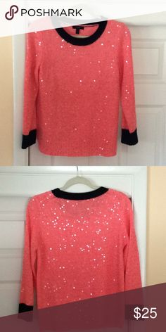 e3c3363dfbdf JCREW SEQUINED SWEATER This is a beautiful sweater, only wore a couple of  times.
